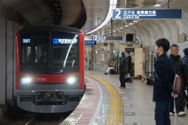 2018-02-18 東武71701F 東武動物公園行き