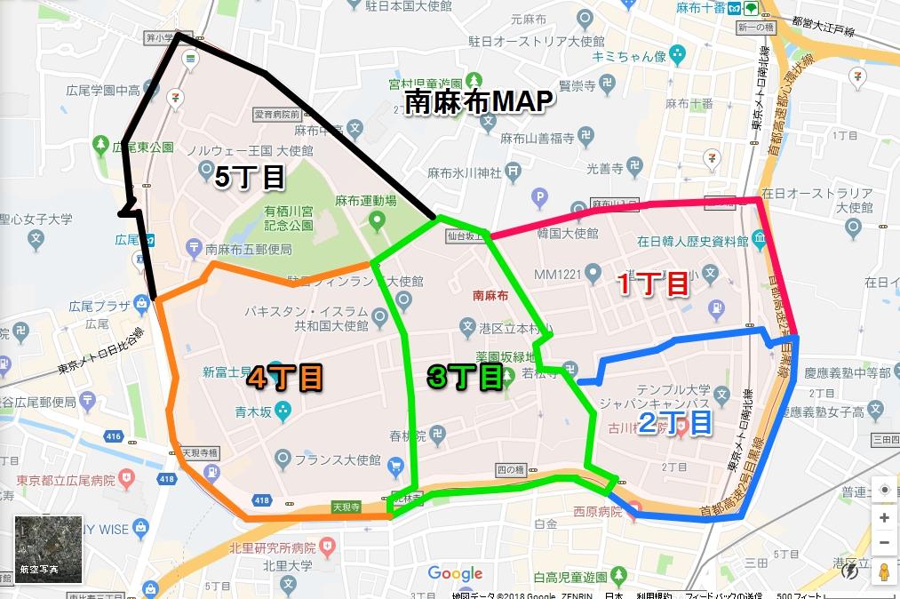 南麻布MAP