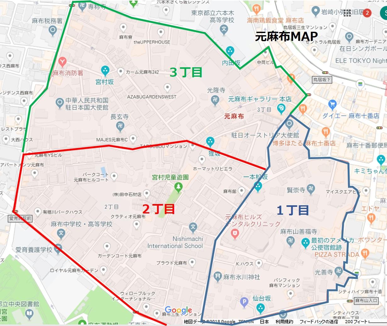 元麻布拡大MAP