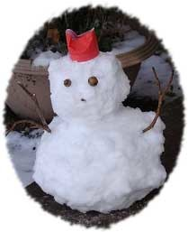 雪だるま型抜き
