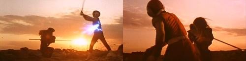 戦隊ヒーローのレッドフラッシュがやられてスーツを破壊される
