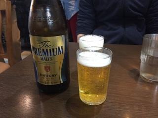 瓶ビール(プレモル 中瓶)