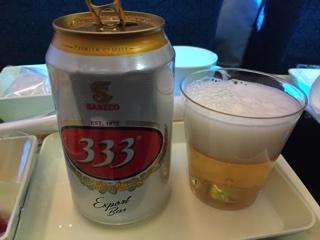 機内ビール(バーバーバー)