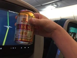機内ビール(ビア ハノイ)