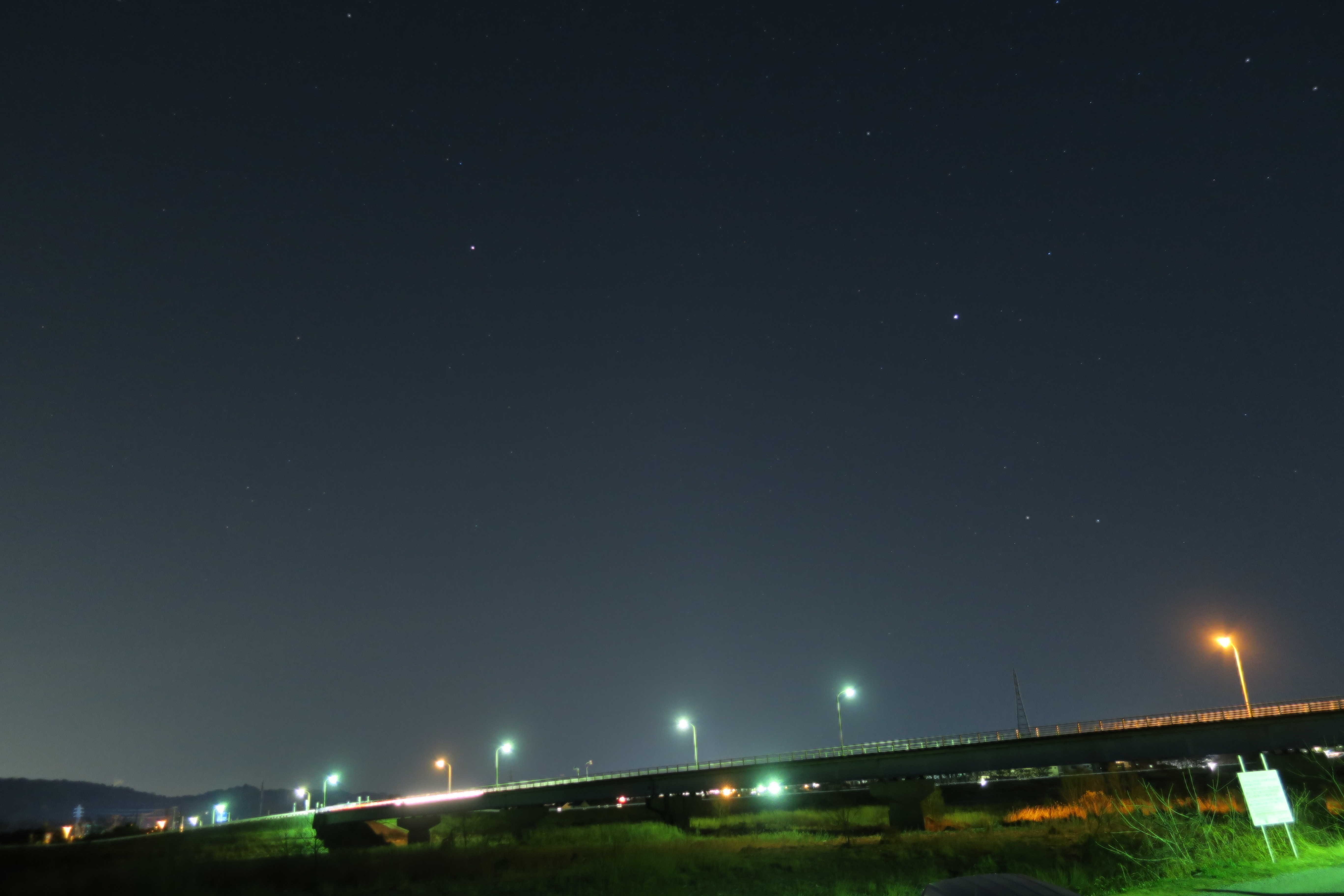 星景写真2「酒匂川河川敷」