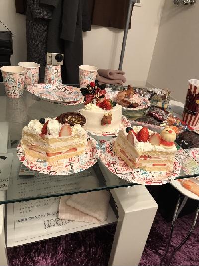 例の切ったケーキ