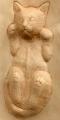 スマホスタンド猫の型出し
