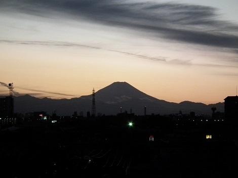 夕方富士山さむね - コピー