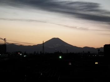 夕方富士山さむね