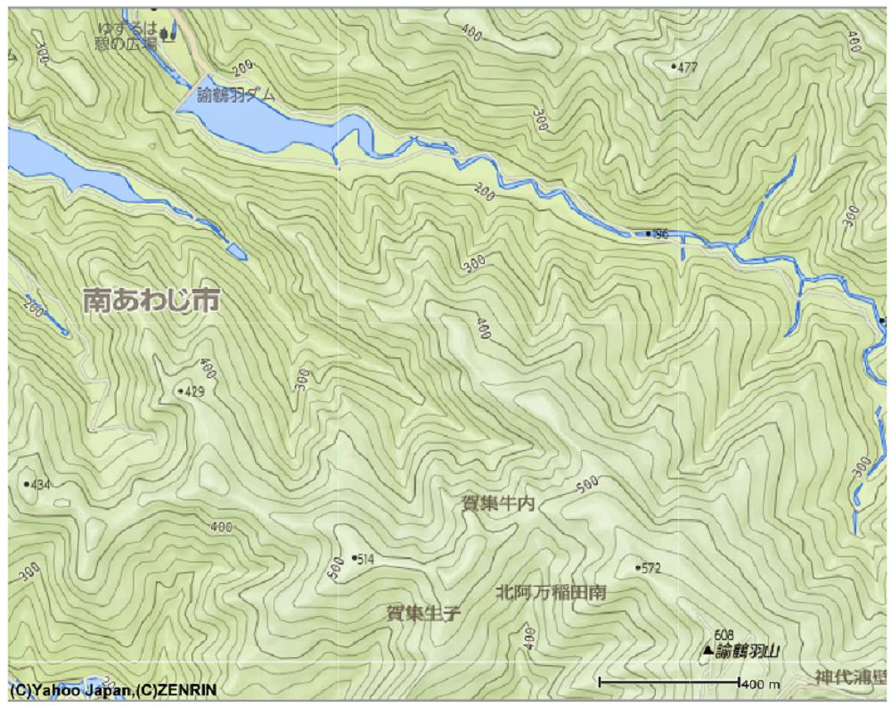 Yahoo地形図から借用