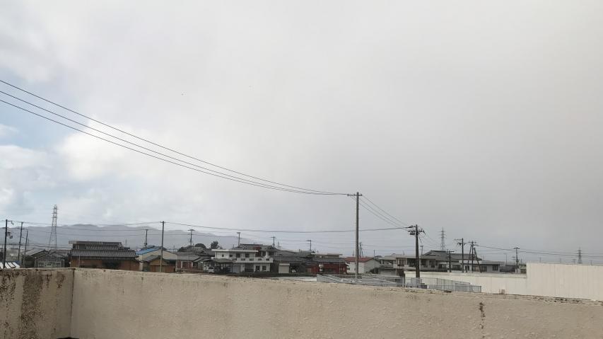 播磨灘から流れてくる雪雲