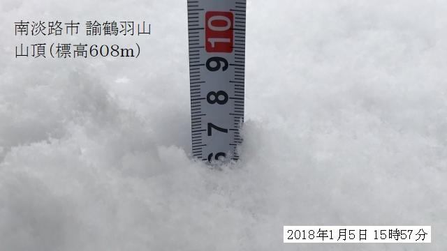 積雪は7センチぐらい