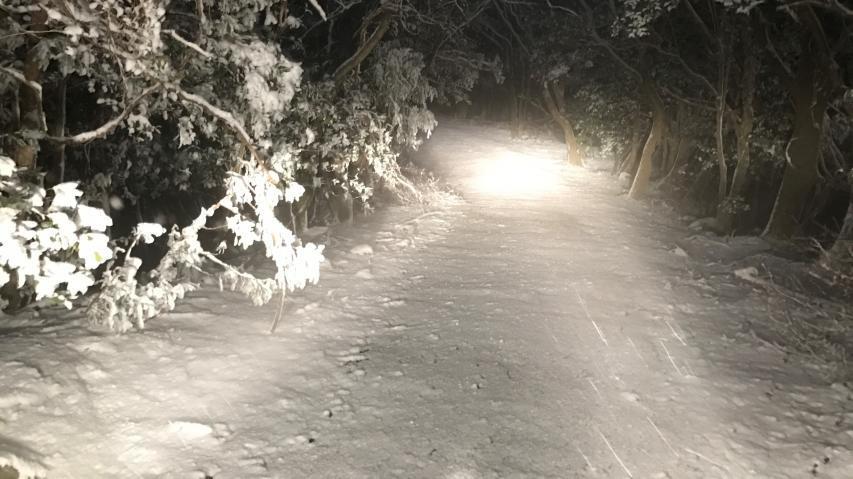 2018年1月22日 17時41分 諭鶴羽山山頂付近