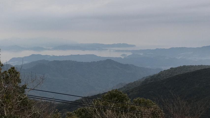 諭鶴羽山山頂からの眺望