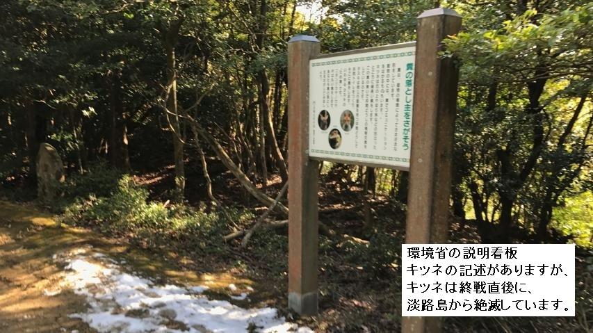 淡路島からキツネは絶滅している