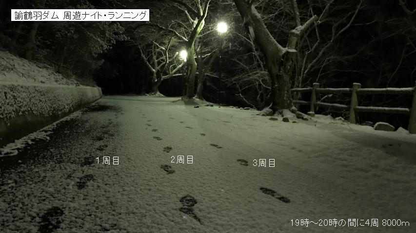 雪面に足跡