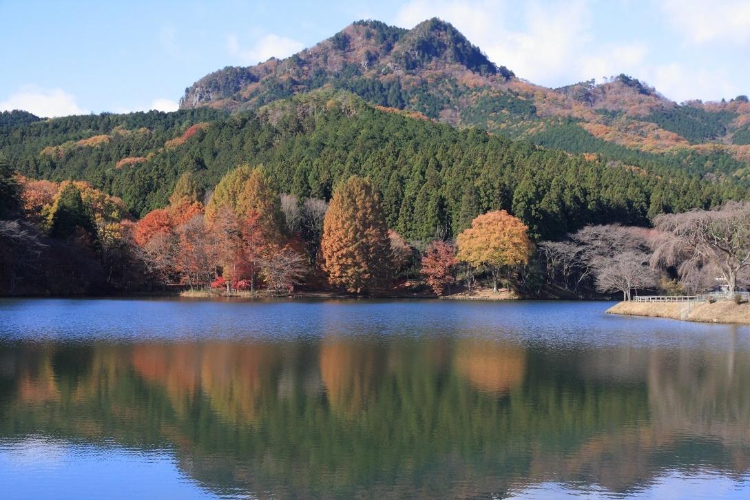 晩秋の古賀志山と赤川ダム湖17