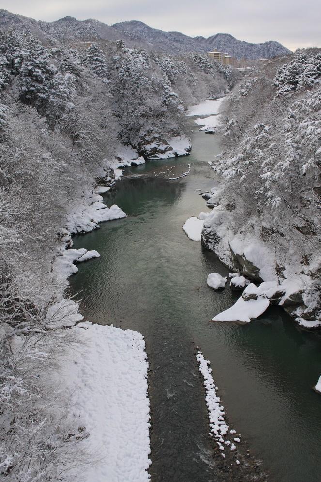 鬼怒楯岩大吊橋からの雪景色②