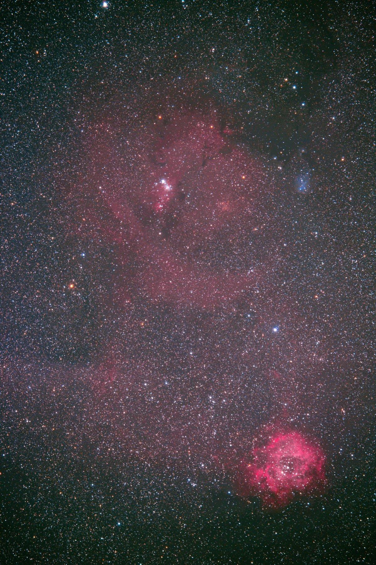 【星雲】ばら星雲&クリスマス星団