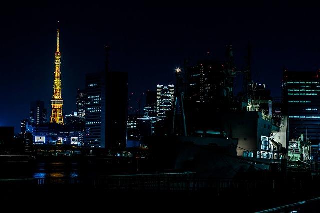 フリー画像・夜の東京タワー