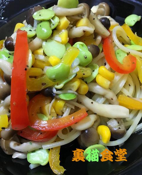 1月9日野菜のペペロンチーノ