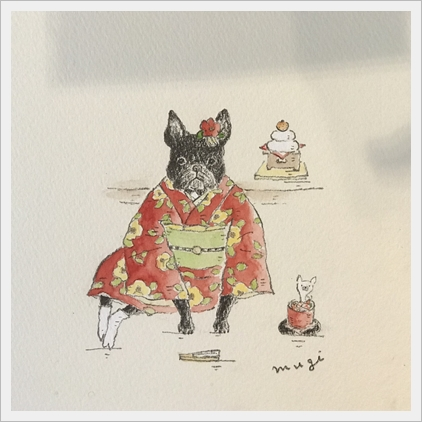 明けましておめでとうございます。松岡文さんイラスト