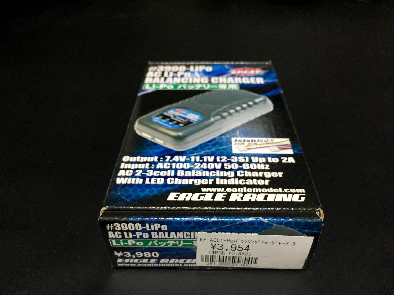 3 イーグル模型 充電器 AC Li-Poバランシングチャージャー 2-3S用 3900-LIPO