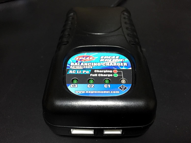 6 イーグル模型 充電器 AC Li-Poバランシングチャージャー 2-3S用 3900-LIPO