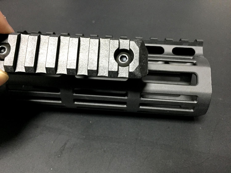 14 M-lok PTS Enhanced Rail Section ERS 7 Slots BLACK エンハンストポリマーレール セクション M ロック 開封 取付方法 レビュー