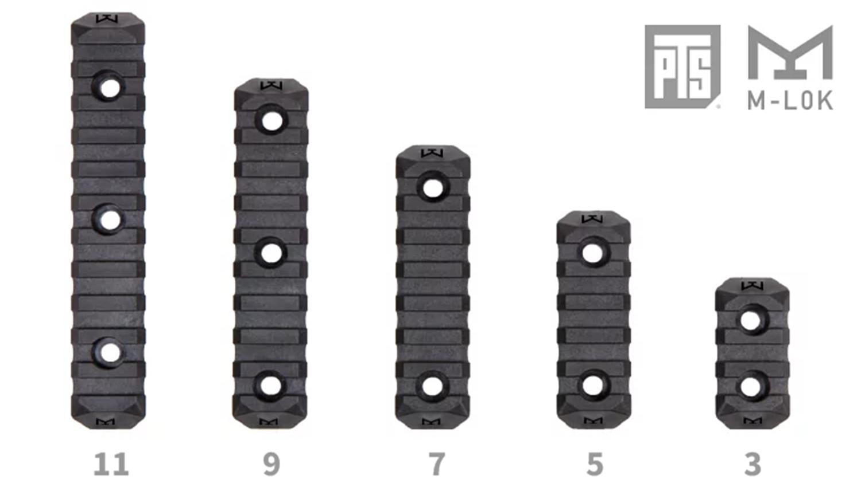 20 M-lok PTS Enhanced Rail Section ERS 7 Slots BLACK エンハンストポリマーレール セクション M ロック 開封 取付方法 レビュー