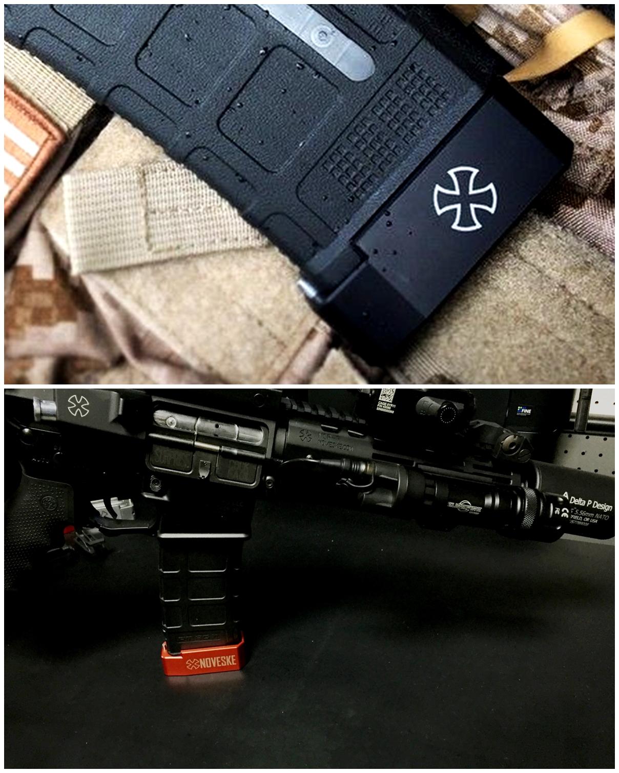 12 UAC P-MAG TTI TYPE アルミ ベース パッド 追加 購入 & TTI NOVESKE DIY LASER 刻印 加工 取付 レビュー