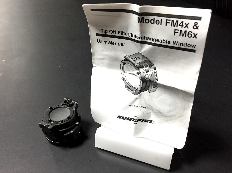2 SUREFIRE FM44 FM4X 1.37 BEZEL VAMPIRE BEAM SHAPER M952V M900V IR シュアファイアー ビームシェーパー ウェポンライト カバー 検証 レビュー