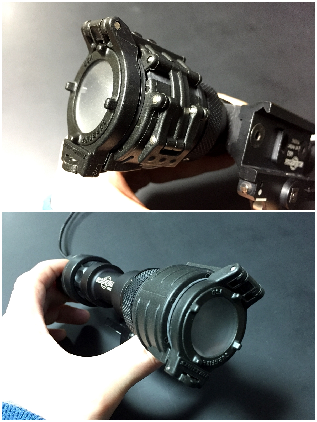 10 SUREFIRE FM44 FM4X 1.37 BEZEL VAMPIRE BEAM SHAPER M952V M900V IR シュアファイアー ビームシェーパー ウェポンライト カバー 検証 レビュー