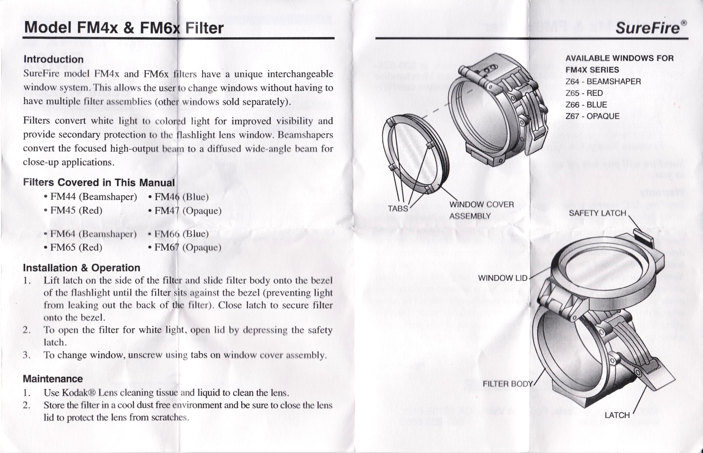 HILOG SUREFIRE FM44 ビームシェーパー 1 37インチ 説明書 裏