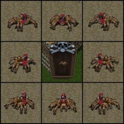 2Dクライアント側蜘蛛8方向と蜘蛛像