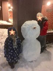 雪だるま作ったよ