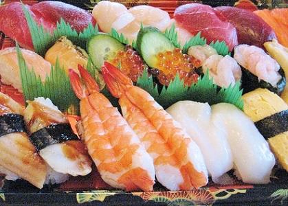 前夜祭お寿司