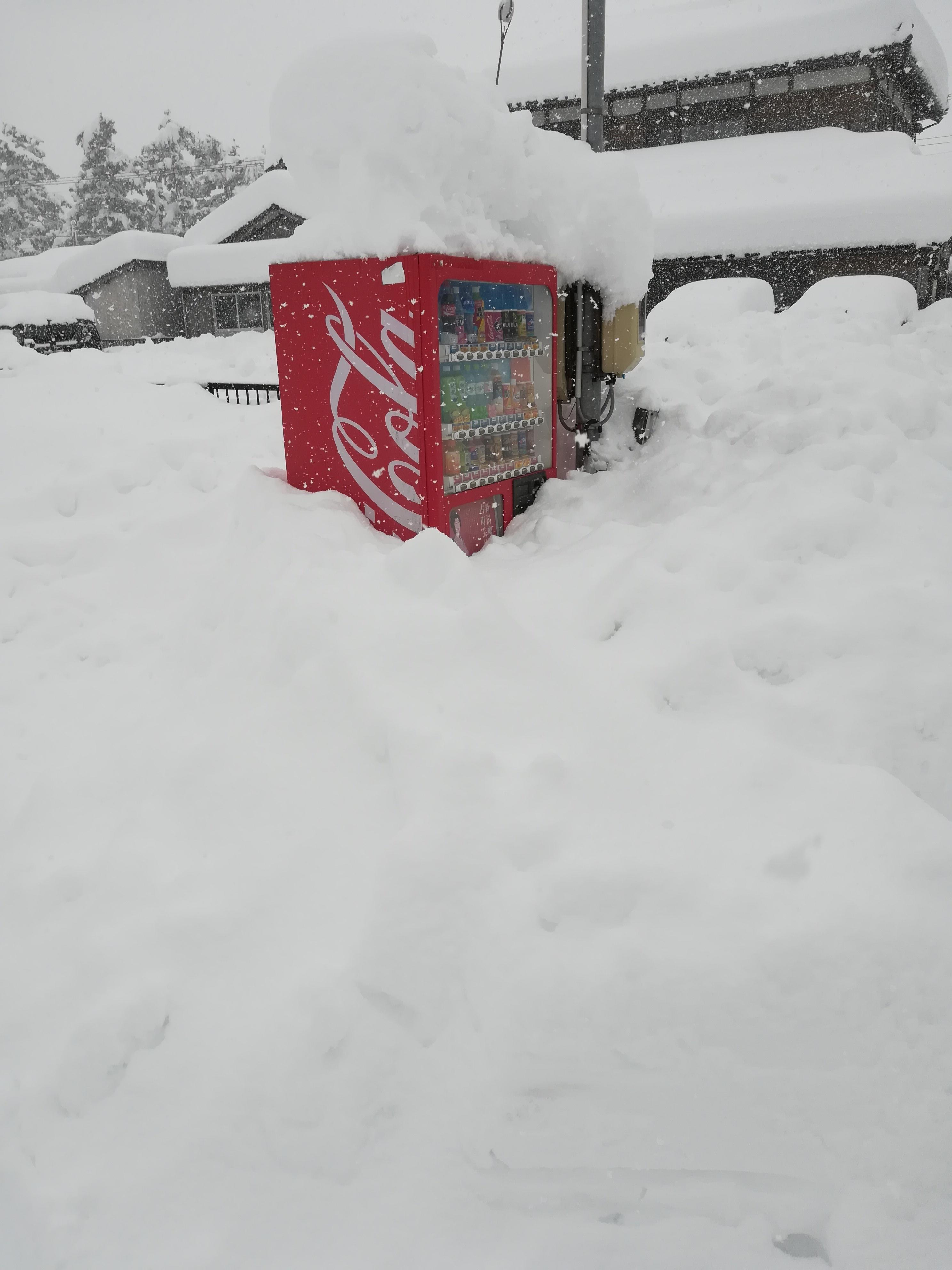 積雪の様子_自動販売機