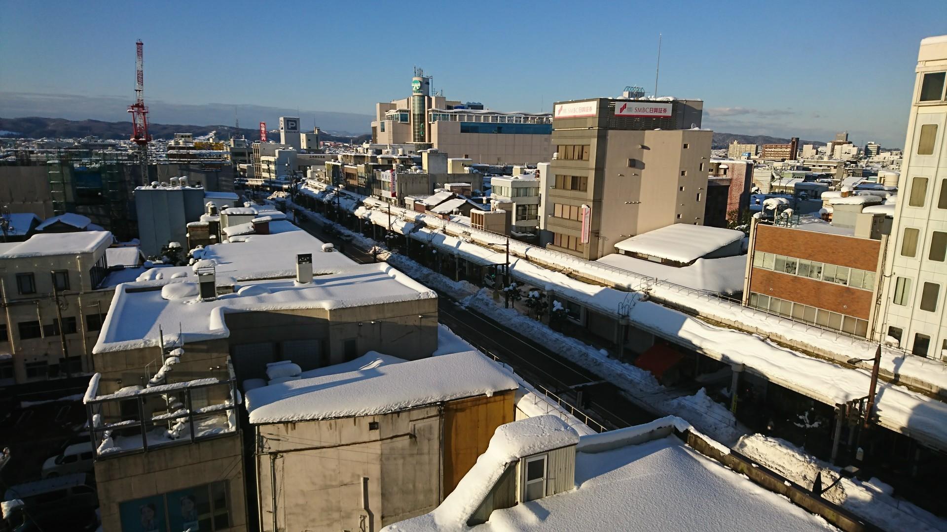 雪の高岡市街_20180114