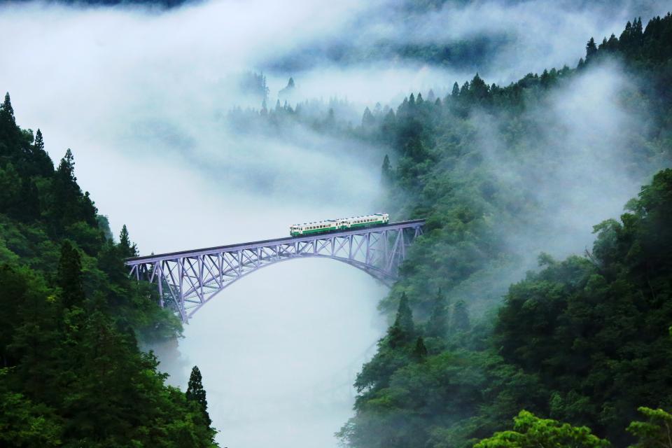 三島只見線霧