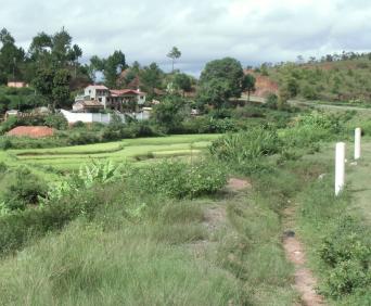棚田近辺の集落マダガスカル