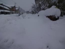 田上小は明日8日に雪かき隊が
