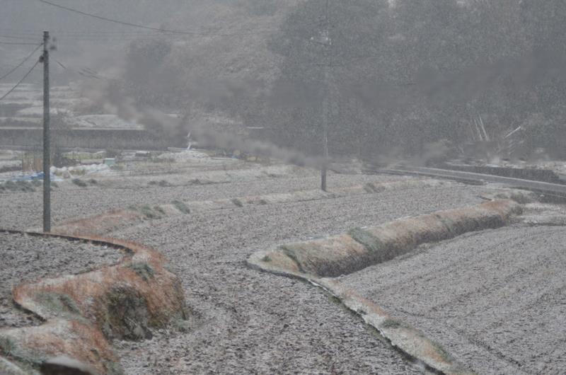 雪景色田んぼ