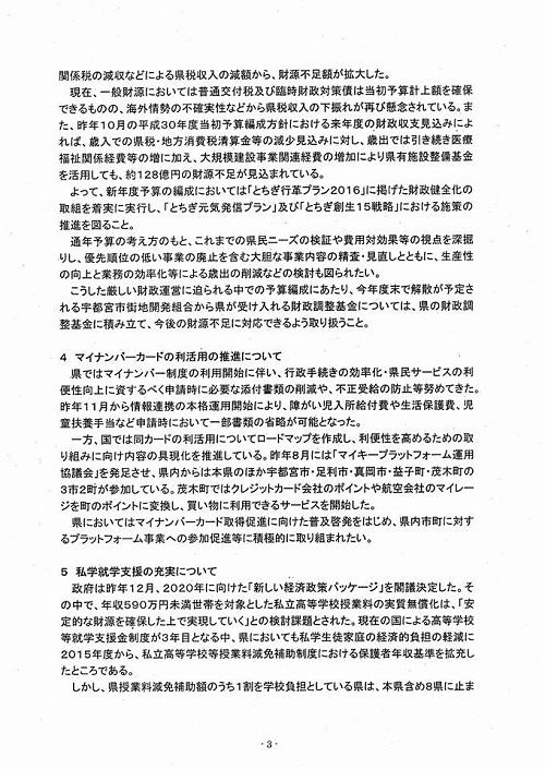 2018年度当初予算・政策推進要望 知事に<申し入れ>!⑤