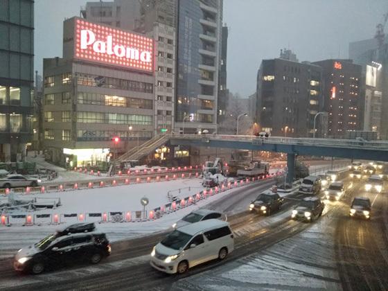 大雪@新宿