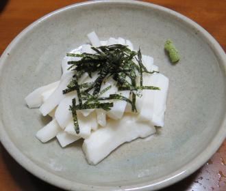 ヤマイモ料理生刻み利用