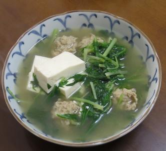 ミズナ入りスープ2月2