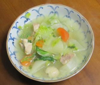 水菜入りスープ2月1