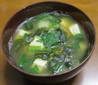 コマツナ入り味噌汁2月