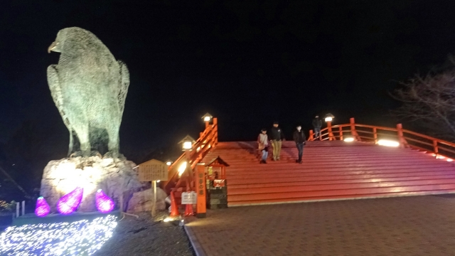 10鳩と橋夜(富士山見えず)